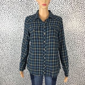 Lucky brand plaid button up size small